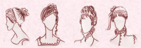 Pictures of Regency hairstyles. Hair