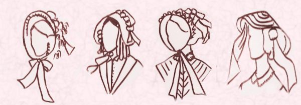 Mid Victorian and Civil War Hair Styles - 1858, 1860, 1862 and 1870