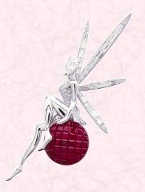Caresse d�Eole fairy clip is the Van Cleef & Arpels interpretation of the world of fairies from A Midsummer Night�s Dream.