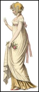 Empire Dress 1800. The style for the early 1800s.
