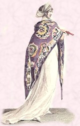 Kashmir Shawl 1801 - Fashion History Accessory of Jane Austen Era.