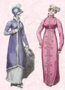 1812 - Regency Pelisse Coats - Walking Dress.