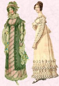 Elaborate mock Tudorbethan touches, sleeves, slashes and Vandyke point hems.