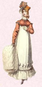 Regency Fashion history - 1817 - Very Short Cropped Spencer Jacket.
