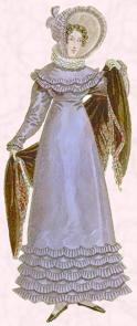 Regency Gown - Iris blue dress 1818.