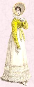 Yellow Regency Spencer Fashion History 1818