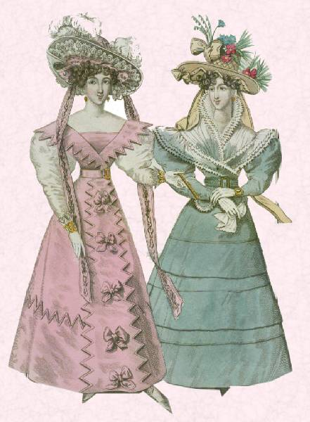 Romantic Era Fashion And Costume 1825 1835