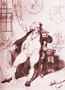 Picture of the overweight Prince Regent.