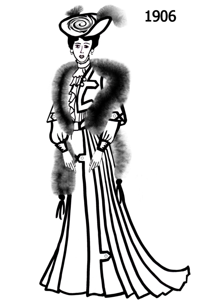 Line Art Fashion : Costume silhouettes  free line drawings