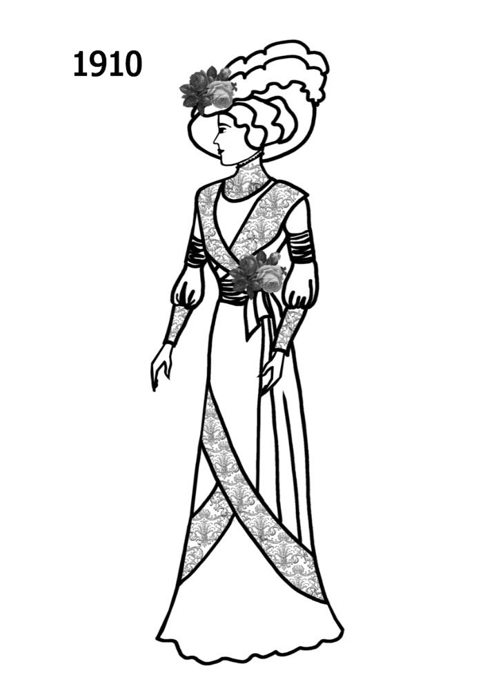 Line Drawing Dress : Costume silhouettes free line drawings
