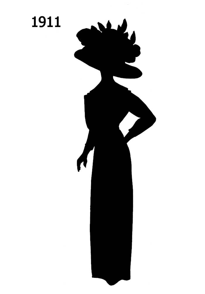 black silhouettes 1910 1920 in costume history 2a