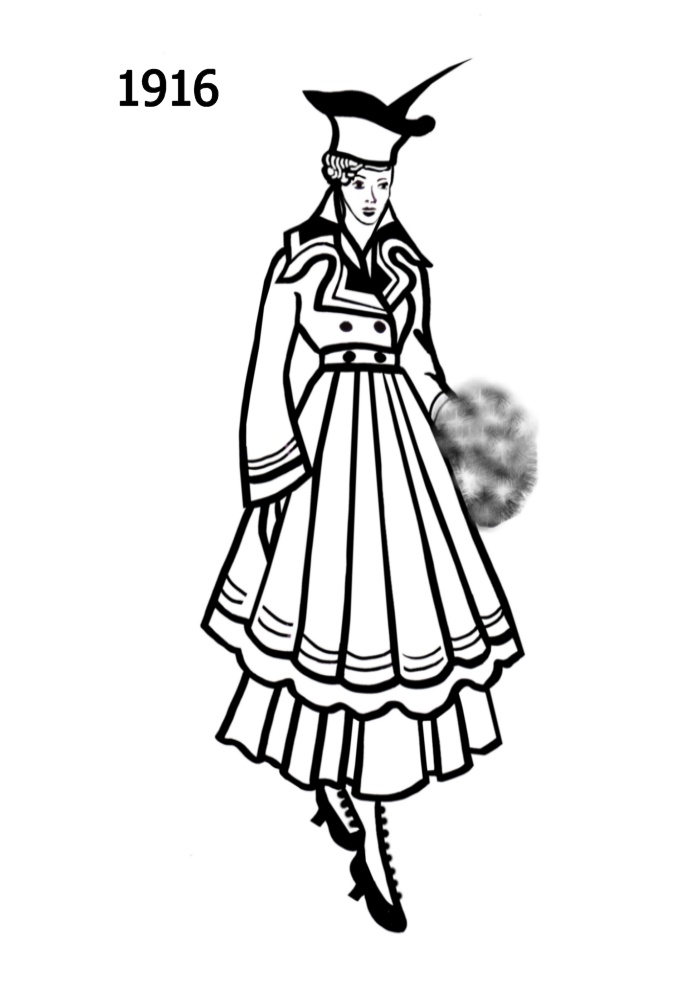 Line Art History : C th costume silhouettes  free line drawings