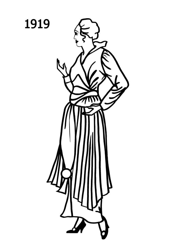 costume silhouettes 1918