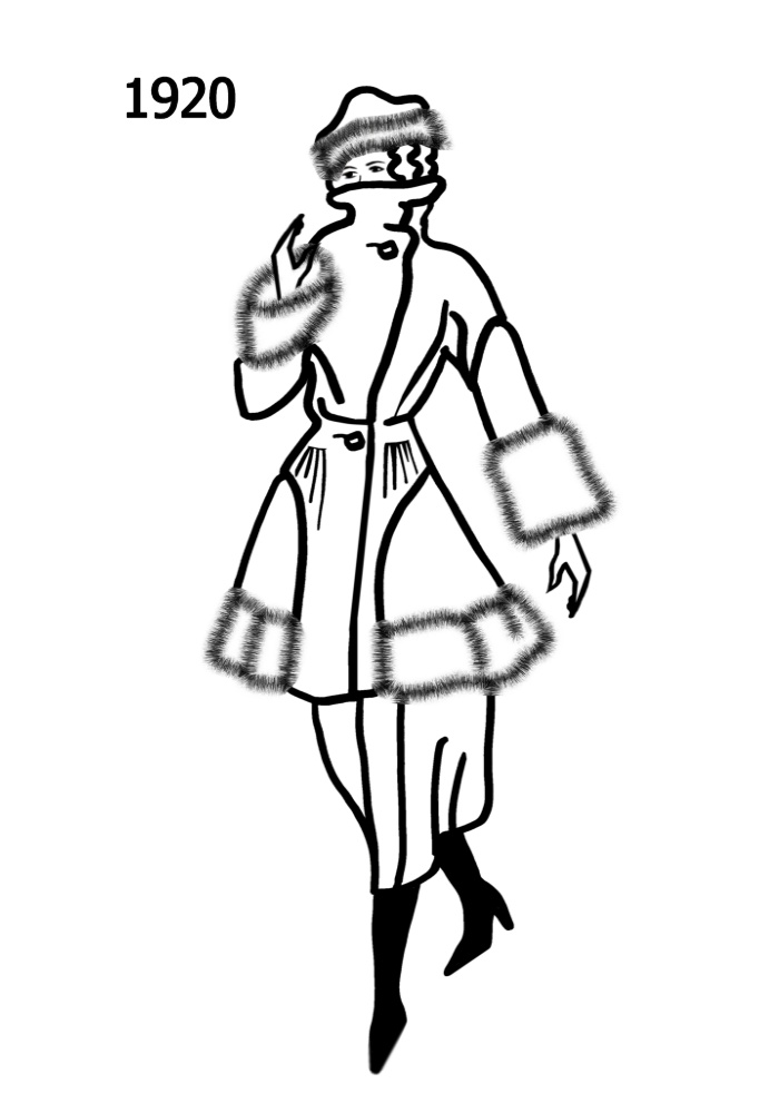 Line Art History : Costume history silhouettes  free line drawings