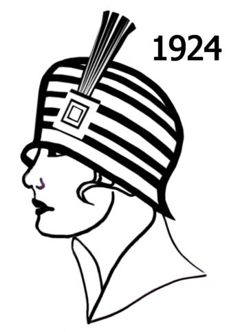 costume history silhouettes 1924 1925 free line drawings 1920 Fashion Trends my original detailed text information on the 1920s can be found in the main section here at flapper fashion you may also be interested in the link to the
