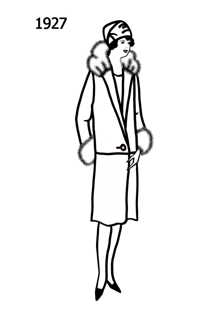costume history silhouettes 19261927 free line drawings