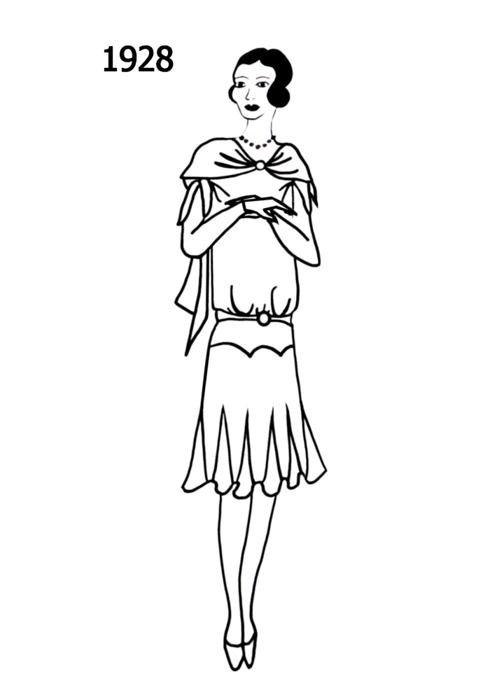 Line Drawing Dress : Costume history silhouettes free line drawings
