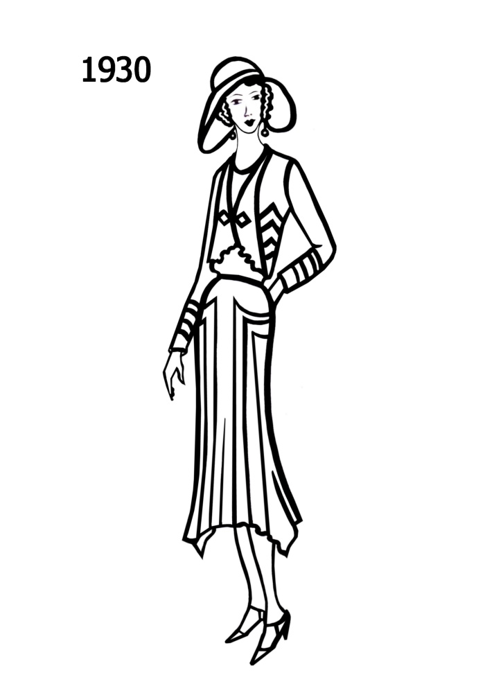 Line Art Design Trend : Costume silhouettes  free line drawings