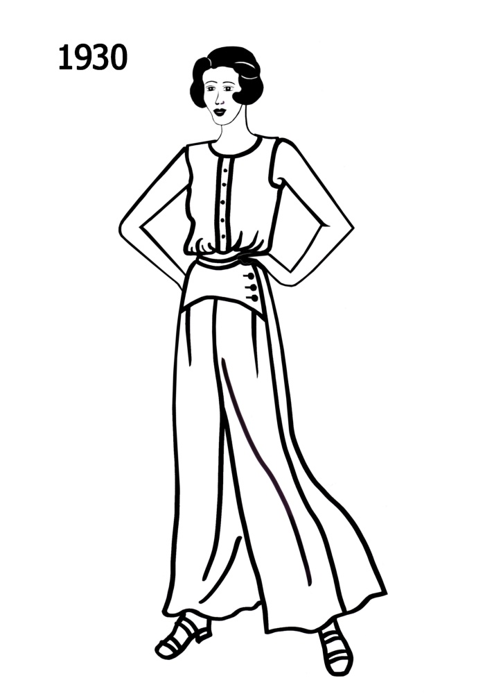 Line Art Fashion : Costume silhouettes  free line drawings