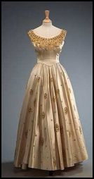 The Queen's Cream Evening Dress Designed by Norman Hartnell