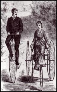 Bicylce wear - 1880 - Dress to wear on a tricycle.