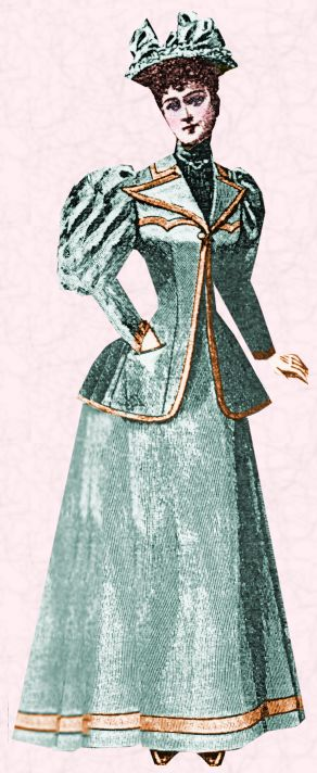 Middle class fashion in victorian era dress