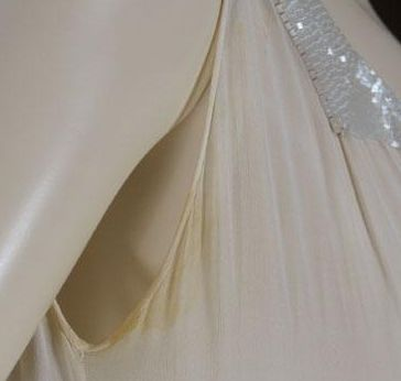 How to clean white polyester dress