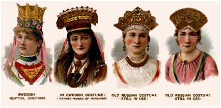Swedish and Russian Bridal Headdresses