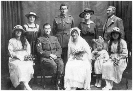 1919 - English/Australian Wedding Group Photo