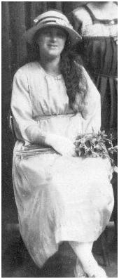Edith a bridesmaid in 1919.