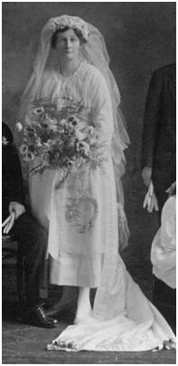 1920s wedding dress photo brides 1921 wedding dress 1920 bride letitia gertrude henderson clayton marr junglespirit Choice Image