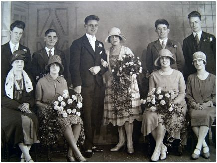 Fashion-era fashion history weddings - 1926/7 Informal Wedding