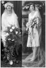 Fahsion-era vintage wedding photos - Bridal Bouquets 1928