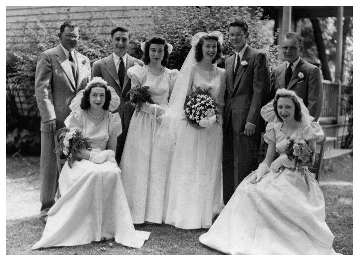 Year 1946 American Wedding Bridal Group