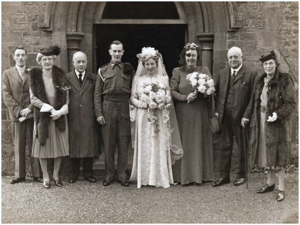 Fashion-era fashion history - 1940s Unknown Military Wedding - Circa