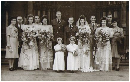 1945 White Wedding - War Bride and Airman of the RAF.