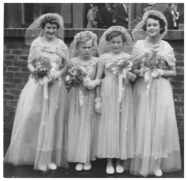 1950s Wedding: Year 1954 Bride, Bridesmaids