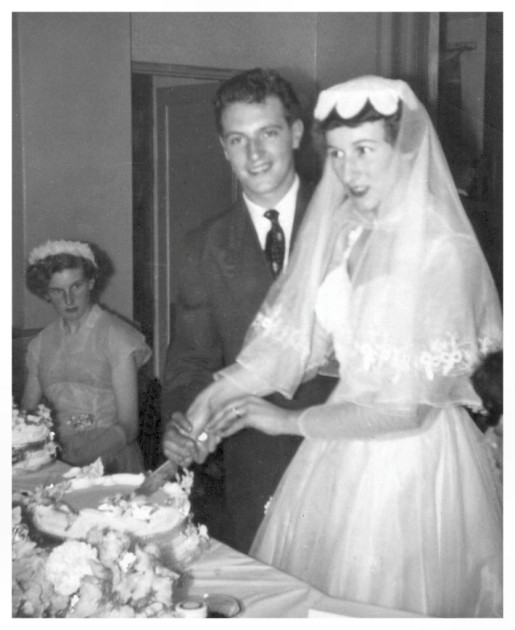 Cutting the Wedding Cake 1956 Cutting the Wedding Cake