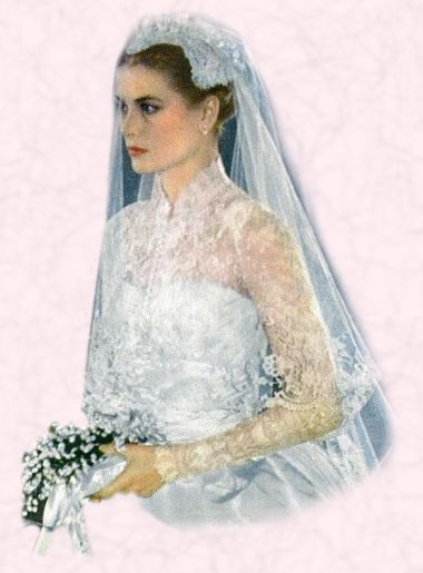 1956 Grace Kelly Wedding Dress - Royal Bride Princess 1950s Weddings