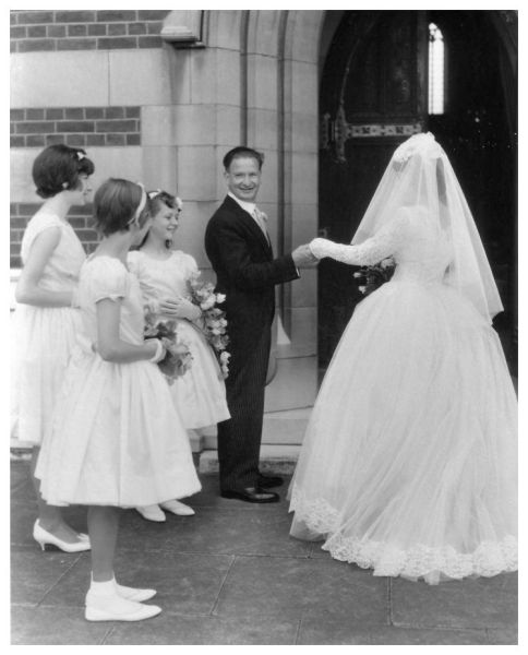 1960s Wedding Dress Photo Notice the lovely pointed lace sleeves and the