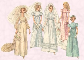 Bridal Dress Patterns 1969