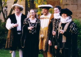 Picture of Henry VIII and Friends at the  Elizabethan and Tudor Themed Fancy Dress Wedding