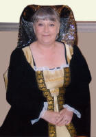 A Wife of Henry VIII at the  Elizabethan and Tudor Themed Fancy Dress Wedding