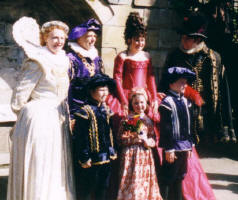 Themed Elizabethan Wedding Group with Children in Costume