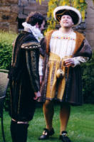 Picture of Henry VIII at the  Elizabethan and Tudor Themed Fancy Dress Wedding