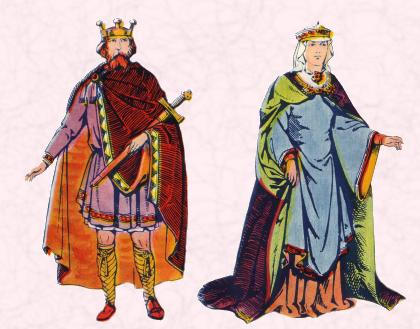 An Anglo Saxon King & and Anglo Saxon Queen