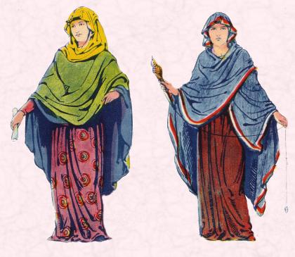 An Anglo Saxon Lady and an Anglo Saxon Woman