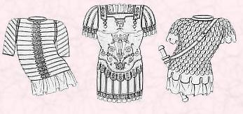 Ancient battle dress armour.