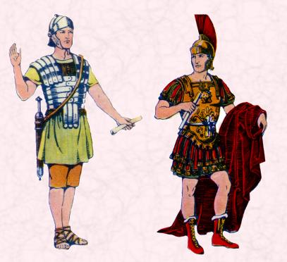 The Roman soldier and a general in ancient Britain
