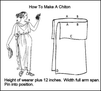 Early Greek Costume History - How to Make a Chiton. Ancient Greek Dress